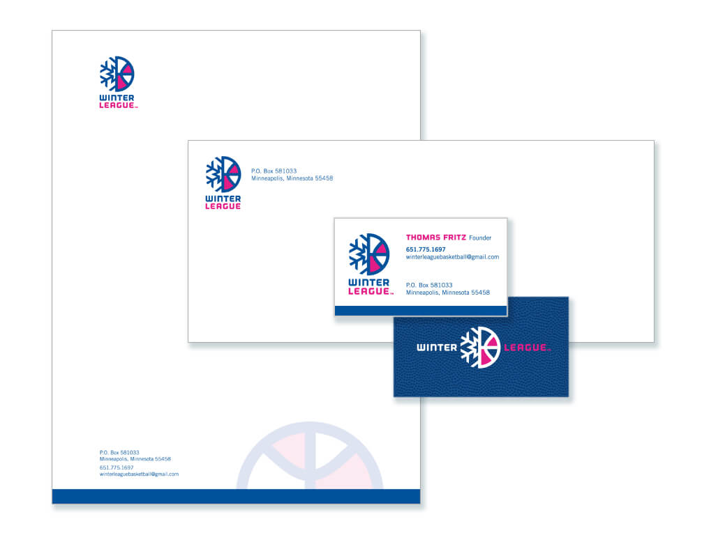 Winter League stationery